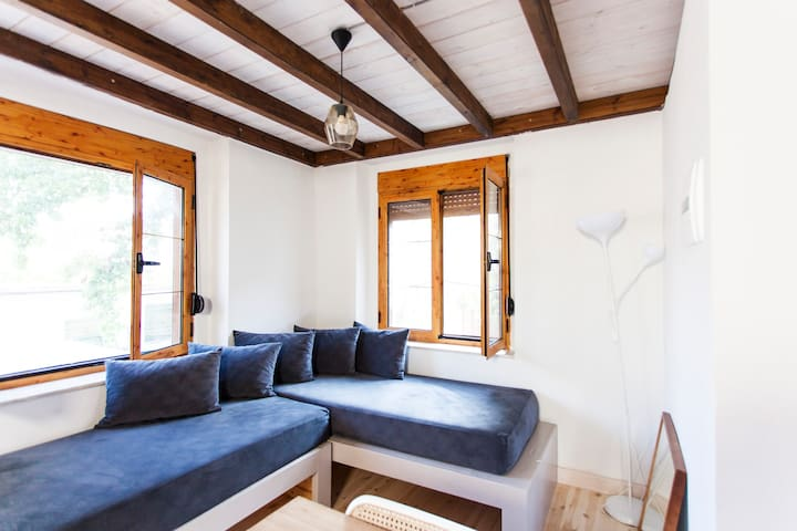 new loft in the centre 50 meters from the beach
