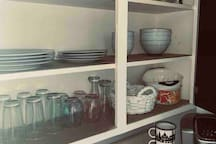 Kitchen with all the basics, and free Keurig coffee