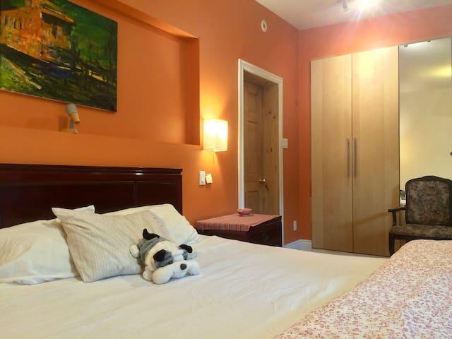 Comfy big room, private bathroom - Montréal - House