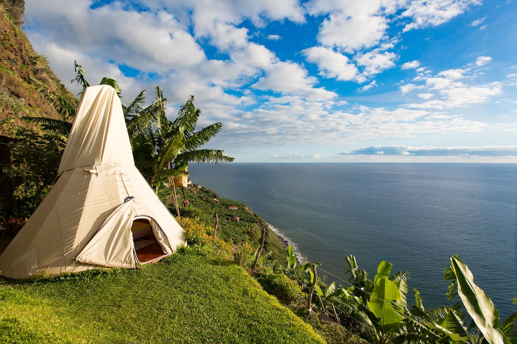 Glamping In A Hidden Paradise Tipis For Rent In Ponta Do