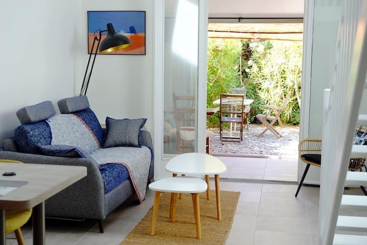 Petite maison de vacances à deux pas de la plage