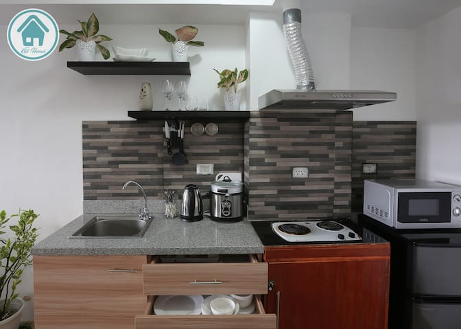 Fully equipped kitchen for those who opt to cook and dine like at home.