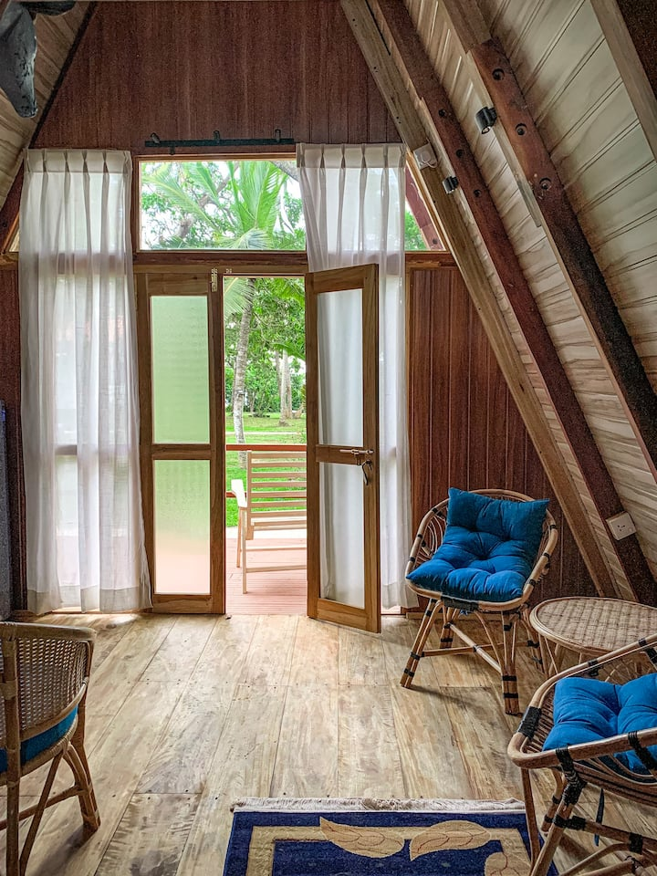 A-Frame Wood Cabin