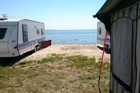 Kemping przy samej plaży nad Zatoką - Jastarnia - Karavan/RV