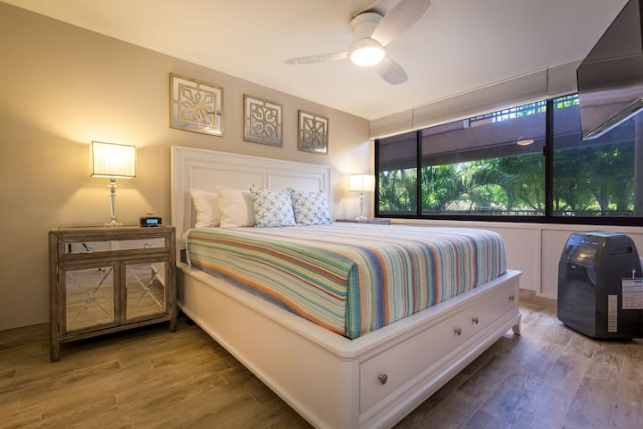 King Sized Luxury Mattress With AC In The Bedroom