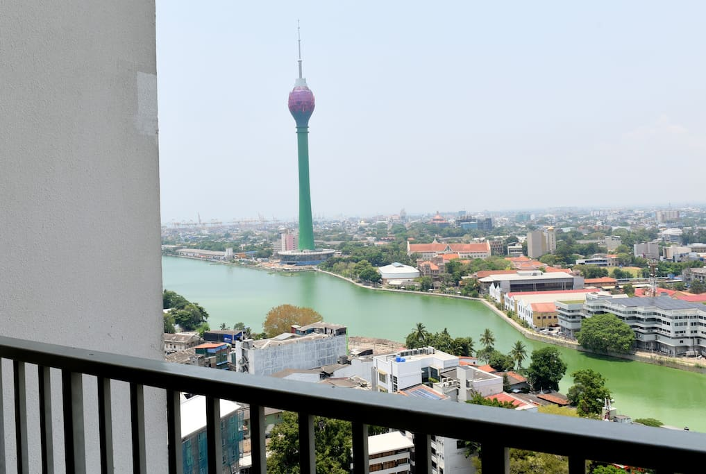 Lotus Tower View from the Balcony