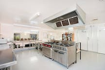 Commercial kitchen for self-catering or recommended caterers.