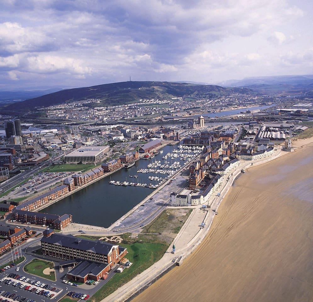 The Marina, Swansea.