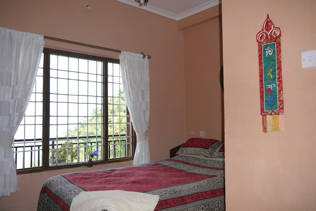 Double bedroom with valley view