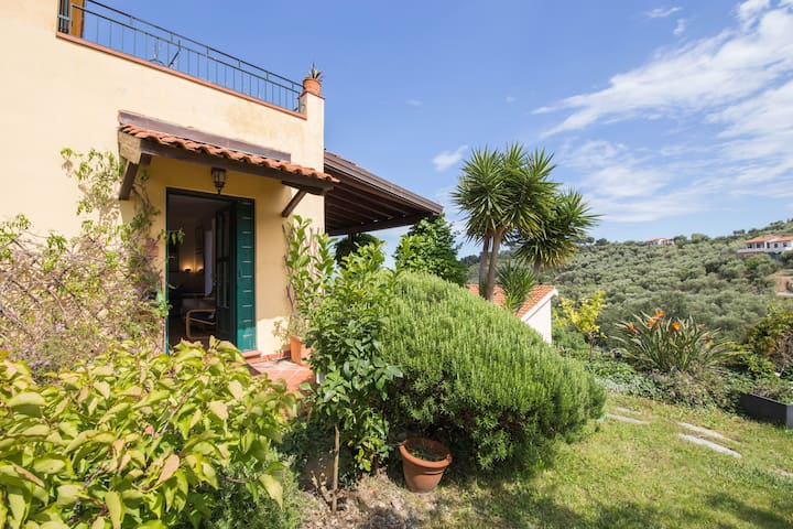GARDEN VILLA WITH AIR CONDITIONING AND SEA VIEW - Diano Marina - Villa