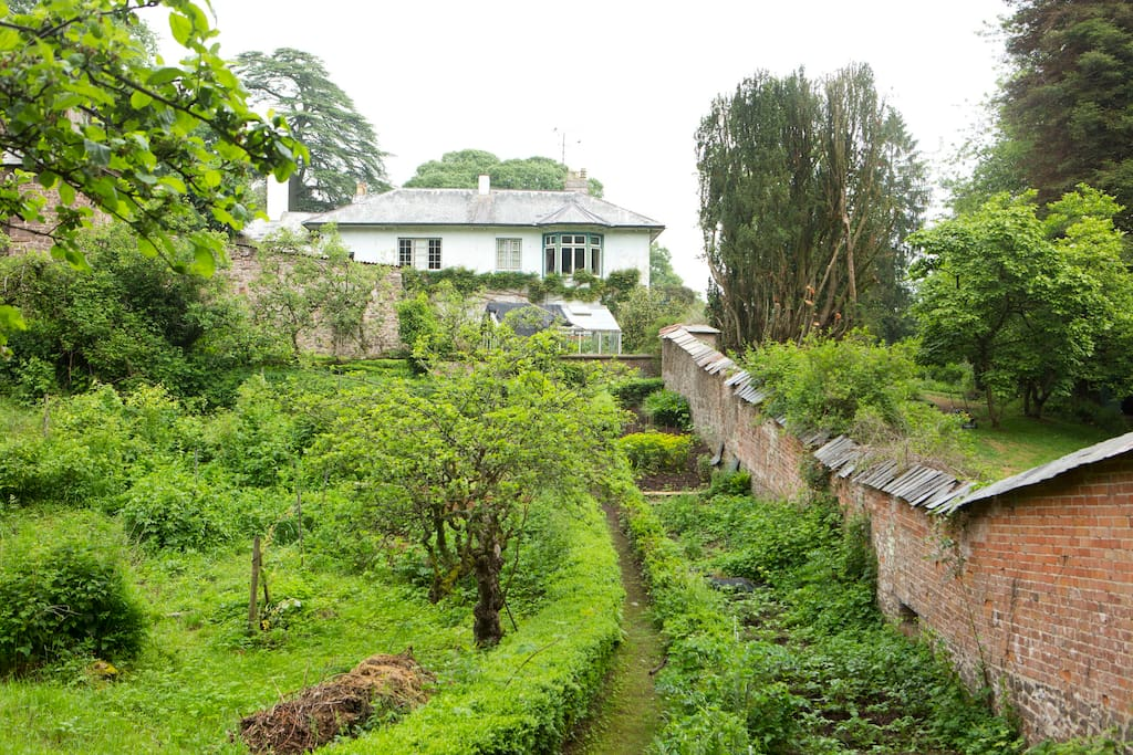 view of house from walled garden