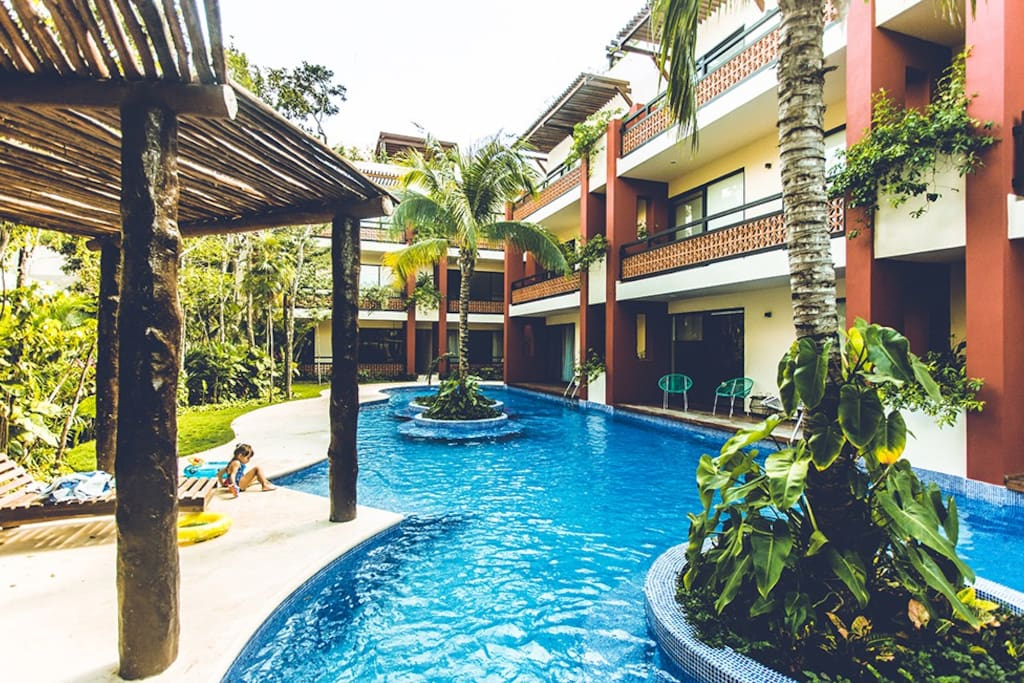 Large beautiful pool.