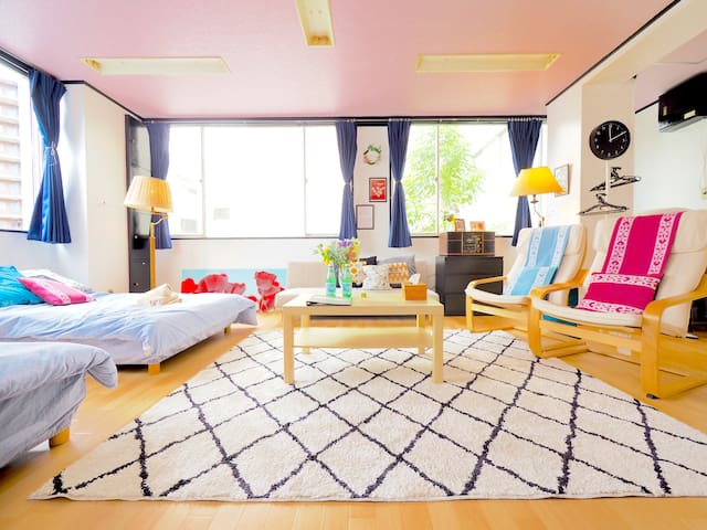 4 min Station★Near Namba/Tennoji★All Private/ wifi