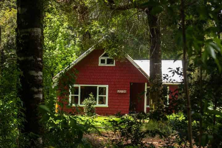 Lodge San Nicolás Lago Natri cabaña Mañio