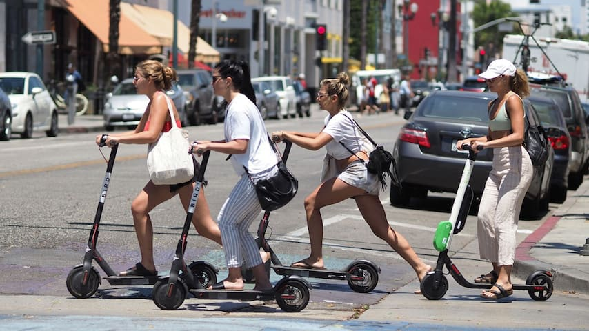 No need to drive when you can walk or take these little fun scooters through the city!