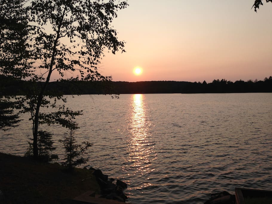 MyPlace West Guilford faces south, you'll enjoy spectacular views and sun sets of Northern Ontario