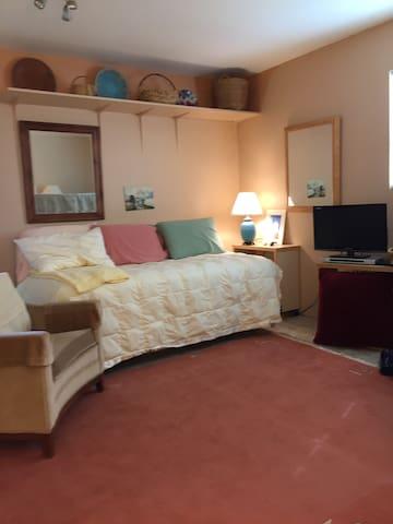 Twin/living room area