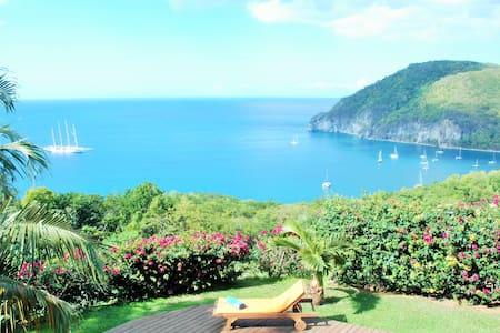 Villa Turtle Bay : Vue mer panoramique sur la baie - Deshaies - วิลล่า