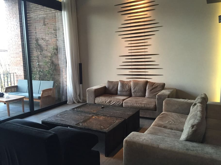 Great living room area for hosting guests.