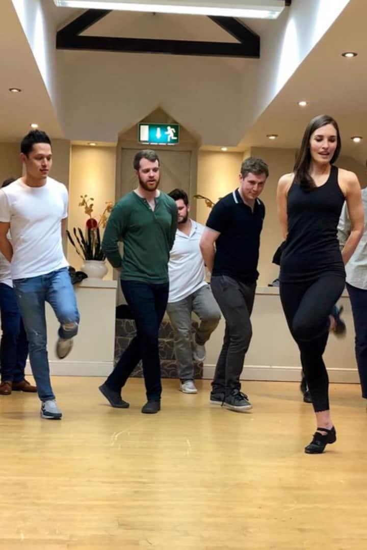 Riverdance style dancing