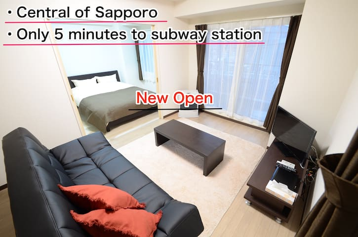 Central of Sapporo!Accessible&clean