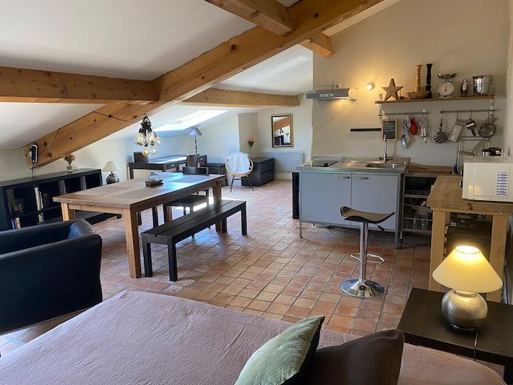 Studio Loft Château d'Aubenas