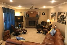 """Family Room, 47"""" TV, TiVo DVR, Over the air broadcast channels."""