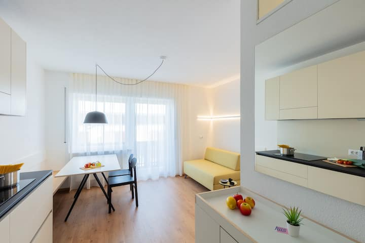 "Modern ""Hus Apartment - Nr. 2"" with Balcony, Garden & Wi-Fi; Parking Available"