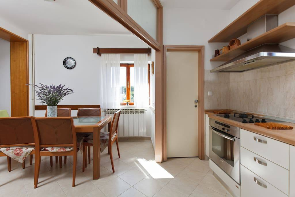 This is kitchen and dining room