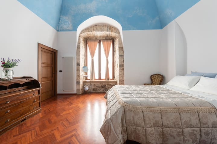 Luxury bedroom in old Castle 14 century