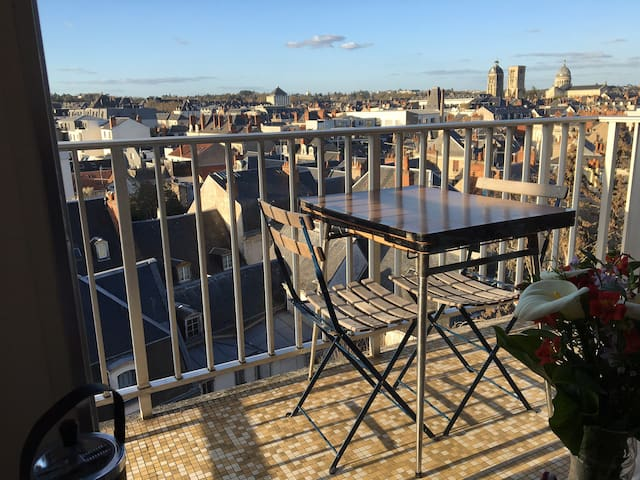 Le balcon en fin d'après-midi