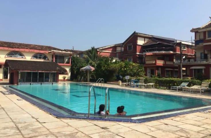 Tour de India CJM Beachfront Studio with Pool,WiFi