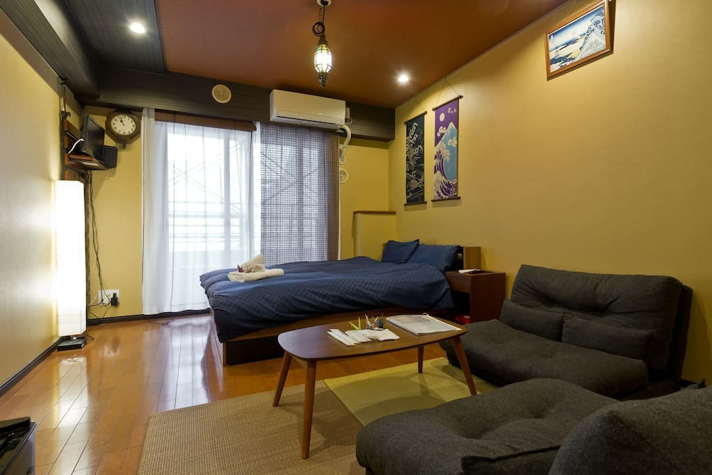 It is a Japanese-style room.