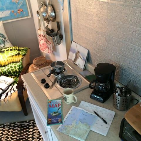 cozy kitchen comfortable sitting room
