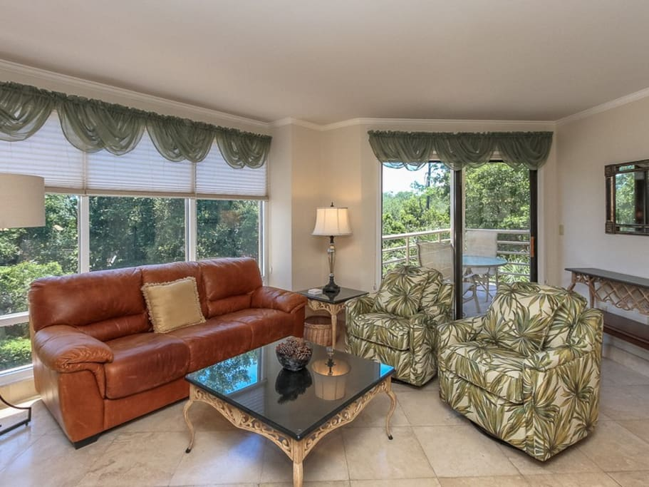 Living Room with Balcony Access at 3230 Villamare