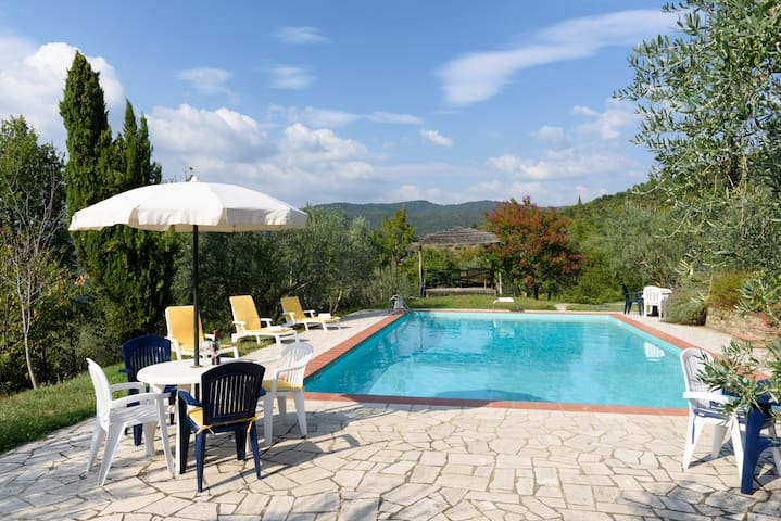 Tuscany, lovely detached cottage   , Large Pool - Castiglion Fiorentino - Apartment