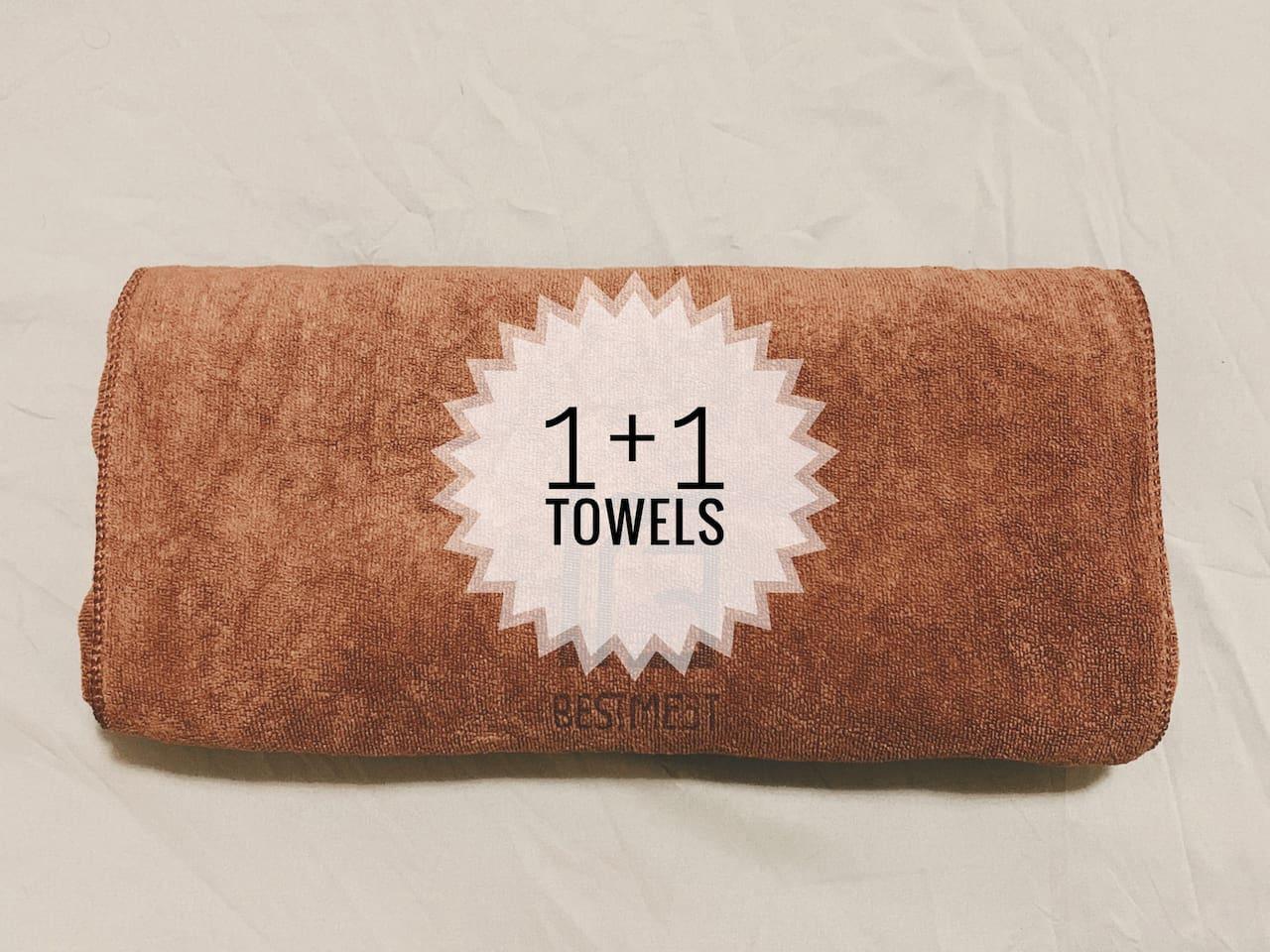 comfortable towels 1+1