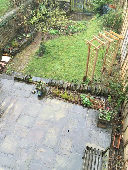 This is the backgarden viewed from our balcony