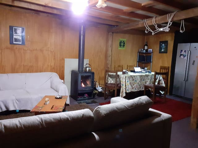 Cálida casa familiar en la Patagonia.