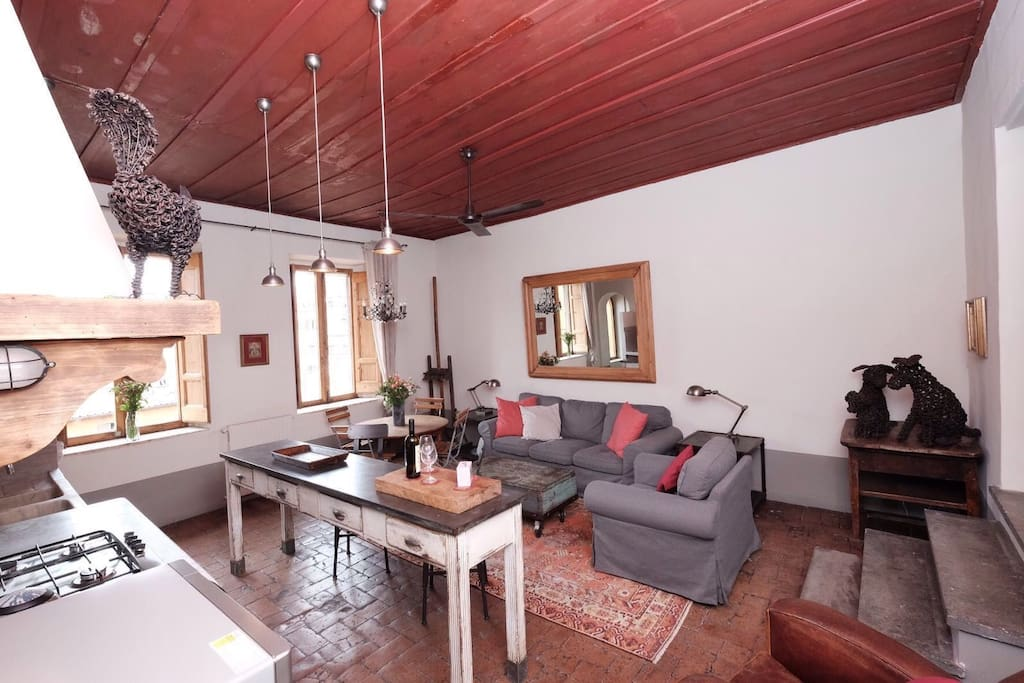 The kitchen is fully equipped for enjoying home-cooked meals and perhaps even a wine tasting?