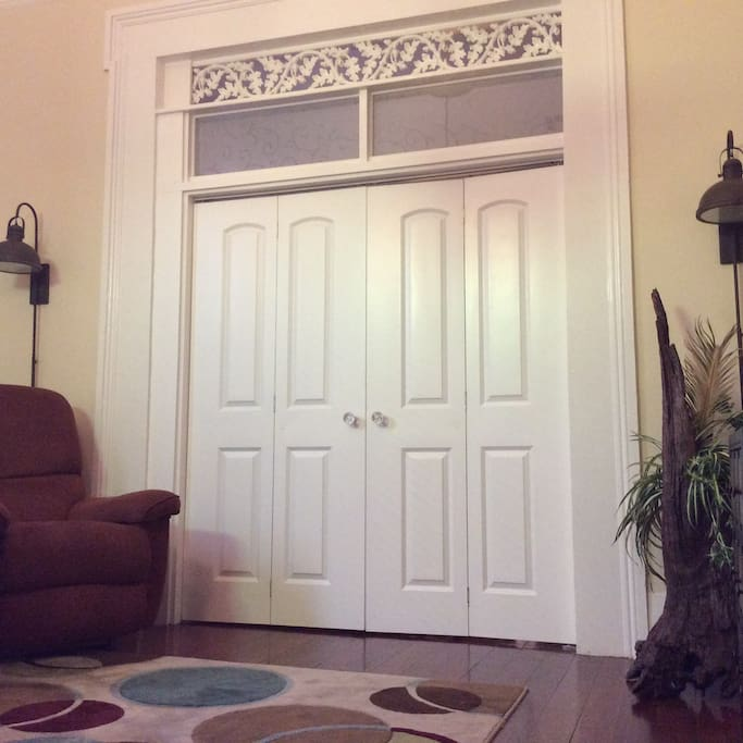 New doors in living room for privacy.