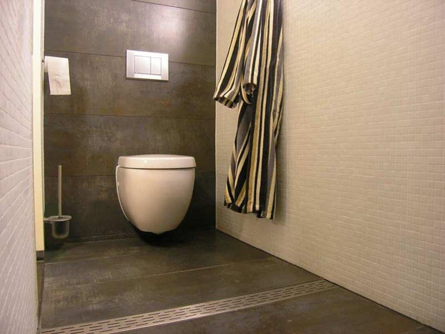 Prive toilet en douche