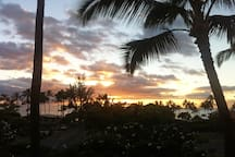 Sunset as seen from the lanai