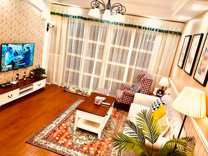 梅西/梦之岛/2居室豪华套间/美式乡村风格大露台观景阳光套房