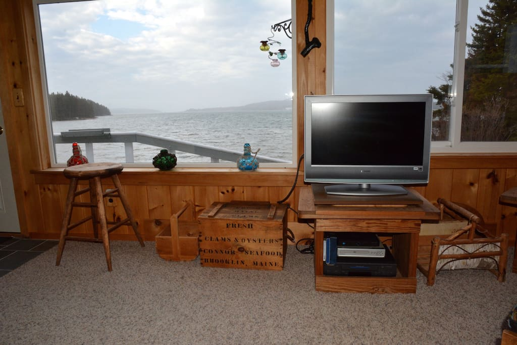 Living area overlooking Pigeon Hill Bay