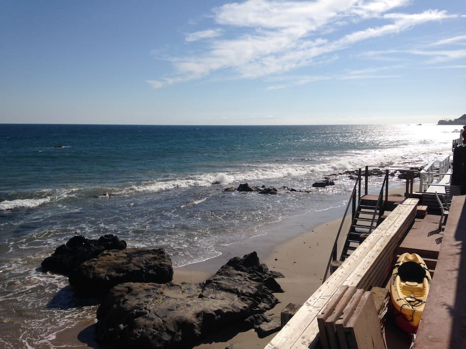 private walk-down to beach.