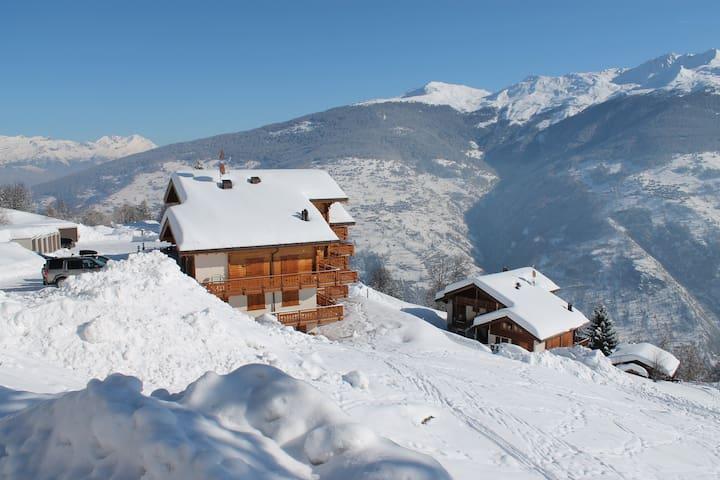 Thyon-les-Collons, 200m des pistes, terrasse