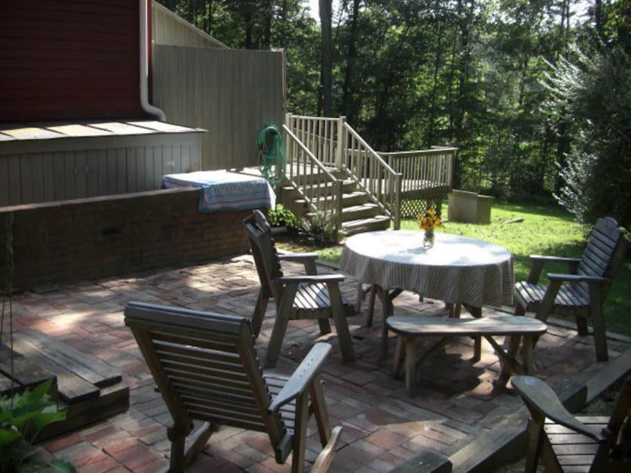 Dine on the back patio, or read, or whatever . . .
