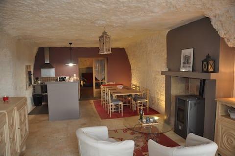 Maison troglodyte Vouvray chez Nath & Alain