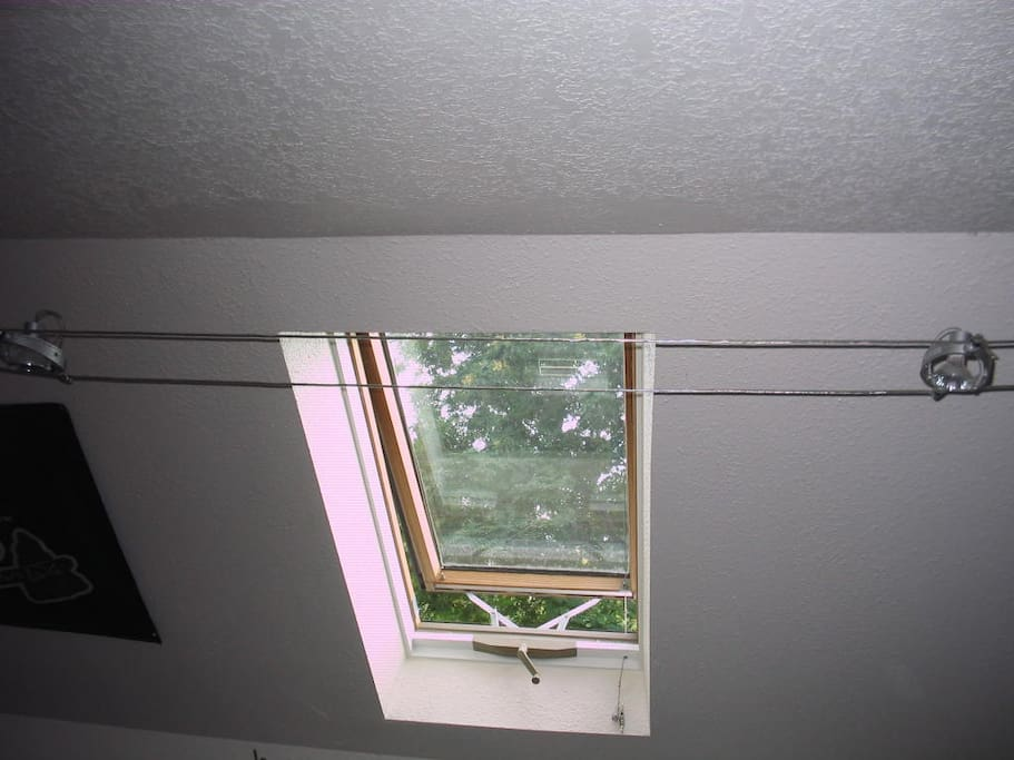 One of two skylights upstairs.